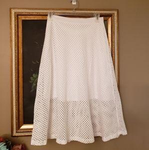 EIGHT-SIXTY ADORABLE Eyelet layered skirt